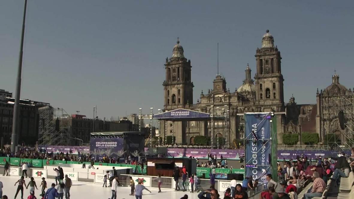 المكسيك تحتفل بأكبر حلبة تزلج صديقة للبيئة في العالم