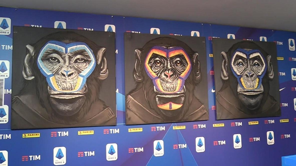 Italia: La Serie A defiende su decisión de usar monos en su campaña contra el racismo