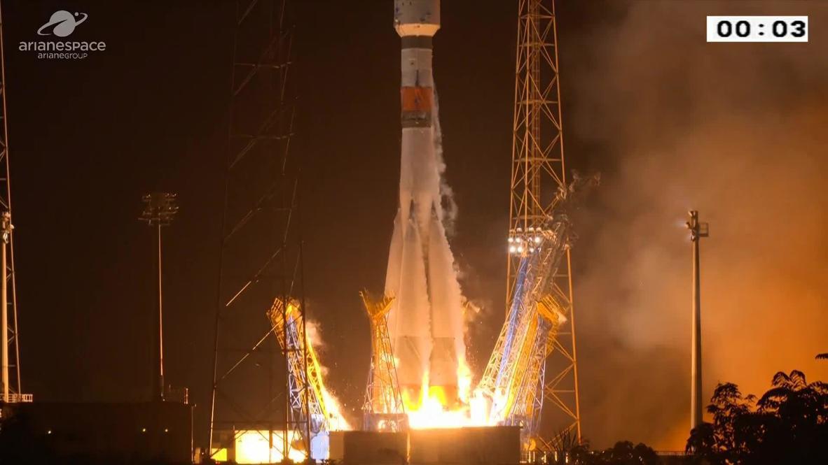 Guayana Francesa: Despega desde la base de Kourou un cohete ruso Soyuz del proyecto Arianespace