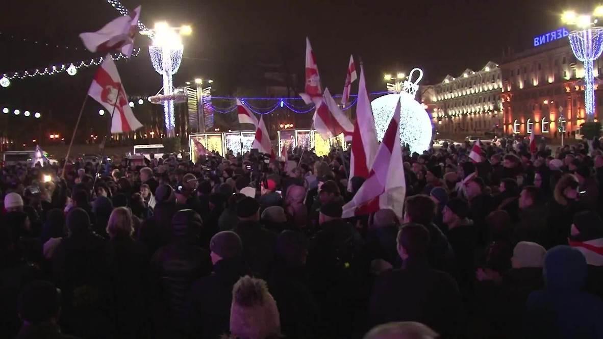 Belarus: Anti-Moscow integration demo hits Minsk