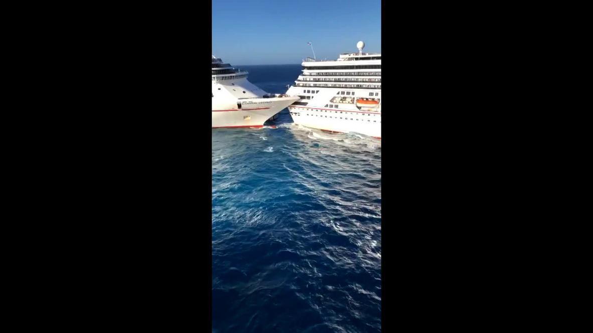 México: Choque de cruceros turísticos cerca de Cozumel deja una persona herida