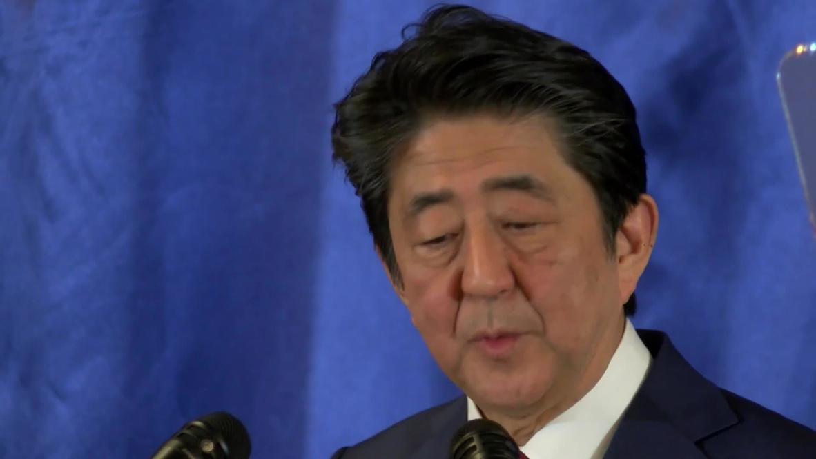 China: Japan's Abe urges peaceful denuclearisation of Korean peninsula