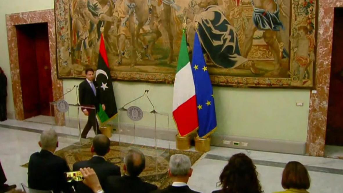 Italia: Conte aboga por una solución política en Libia mientras se reúne con Fayez al-Sarraj