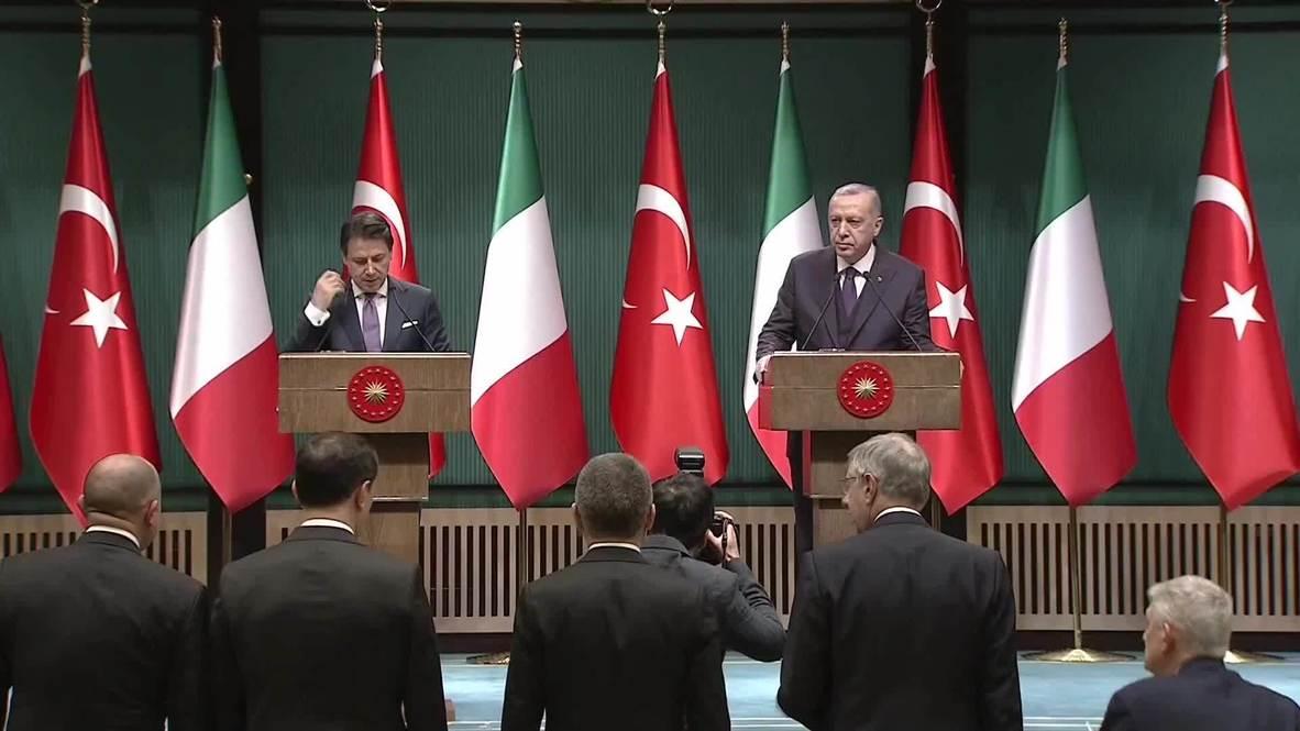 Turkey: Erdogan, Conte call for permanent ceasefire in Libya