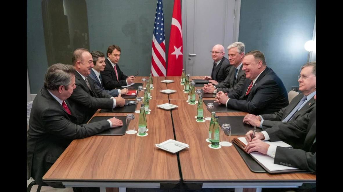 ألمانيا: بومبيو يلتقي مع تشاووش أوغلو والسيسي قبيل انعقاد مؤتمر برلين بشأن ليبيا  *لقطات ثابتة*