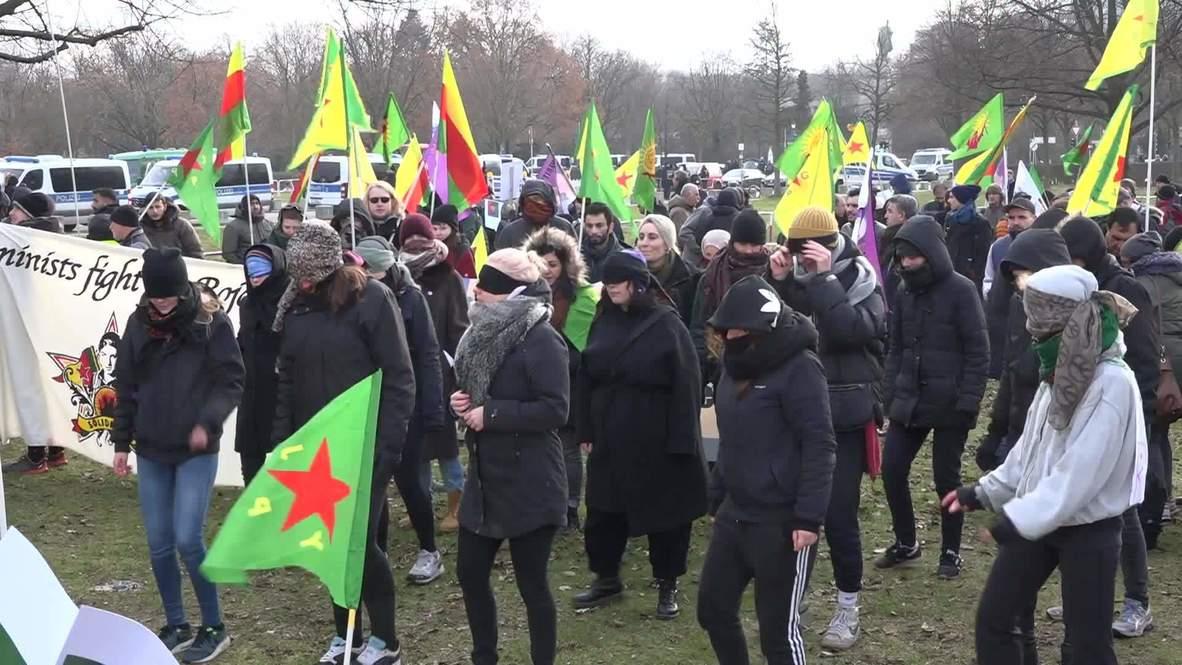 ألمانيا: احتجاجات أمام الرايخستاغ رفضا لمؤتمر برلين بشأن ليبيا
