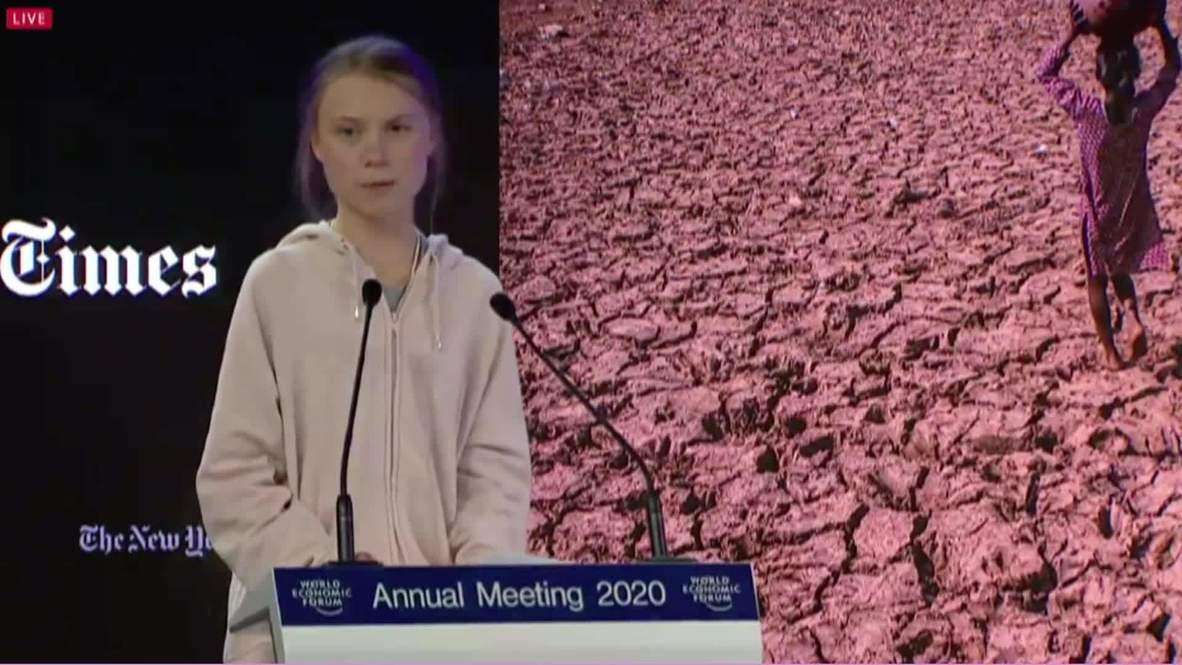 Switzerland: Planting trees 'nowhere near enough' says Thunberg at Davos