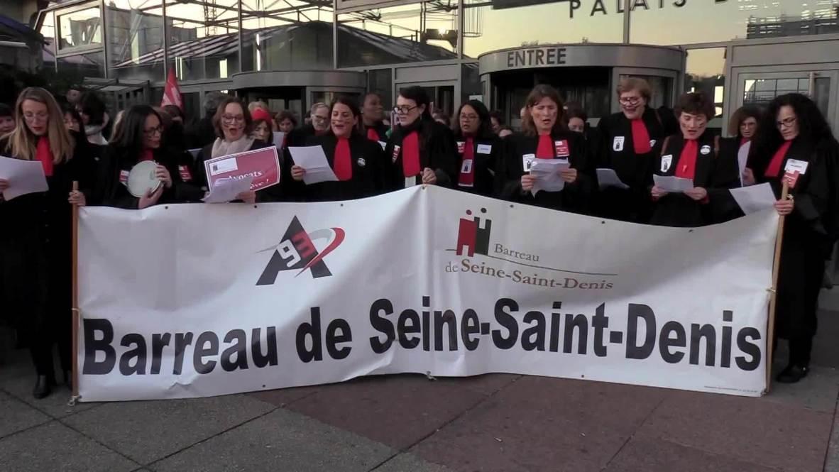 Francia: Abogados realizan Haka ceremonial en protesta contra la reforma al sistema de pensiones