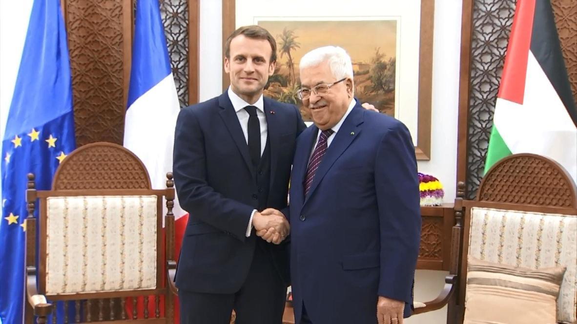 Palestina: Macron reafirma ante Abbás la solución de los dos Estados