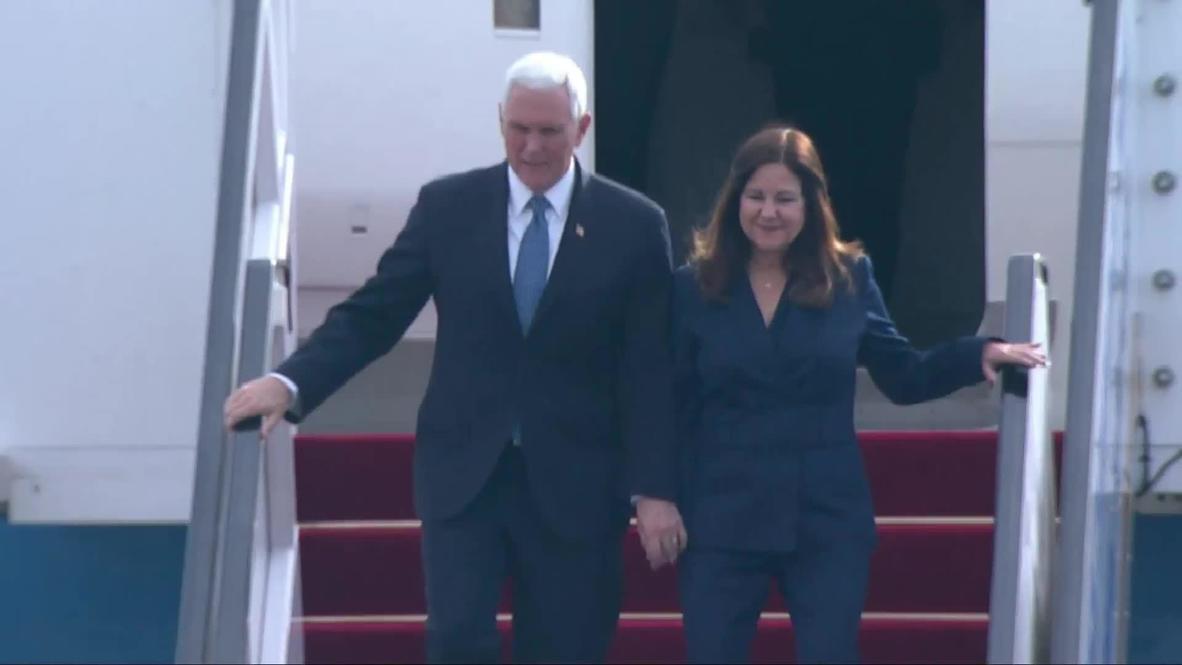 Israel: Pence and Slovakia's Caputova touch down in Tel Aviv ahead of World Holocaust Forum