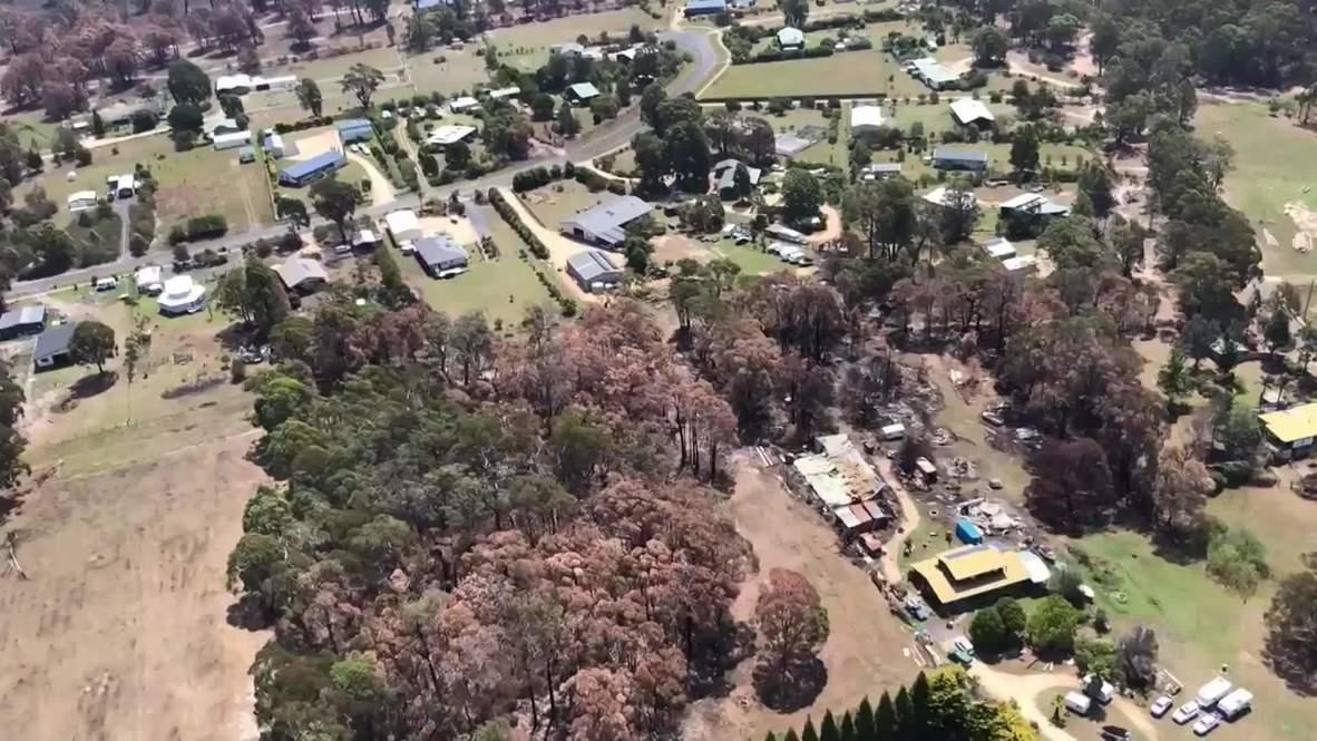 Australia: Imágenes aéreas muestran las devastadoras consecuencias de los incendios en Mallacoota