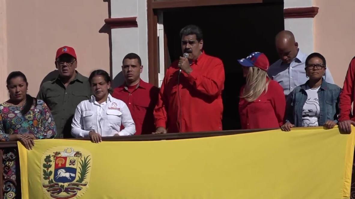"""Venezuela: """"¿Quién te eligió a ti?"""" - presidente Maduro a Juan Guaidó"""