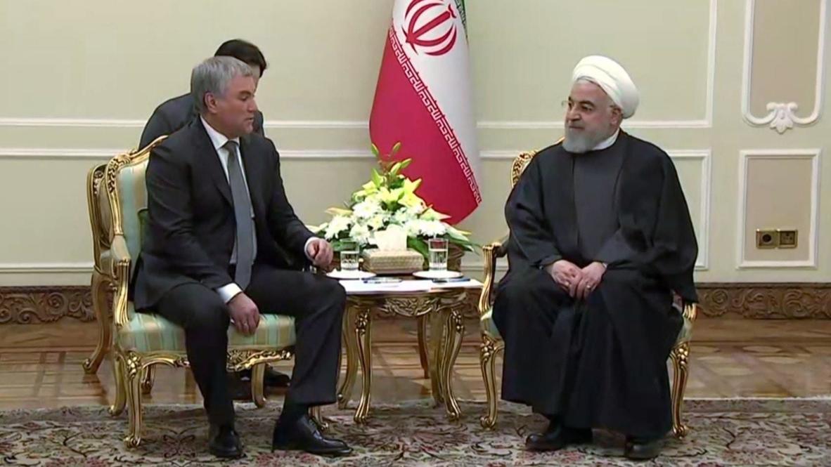 Иран: Володин призвал развивать межпарламентские связи с Ираном