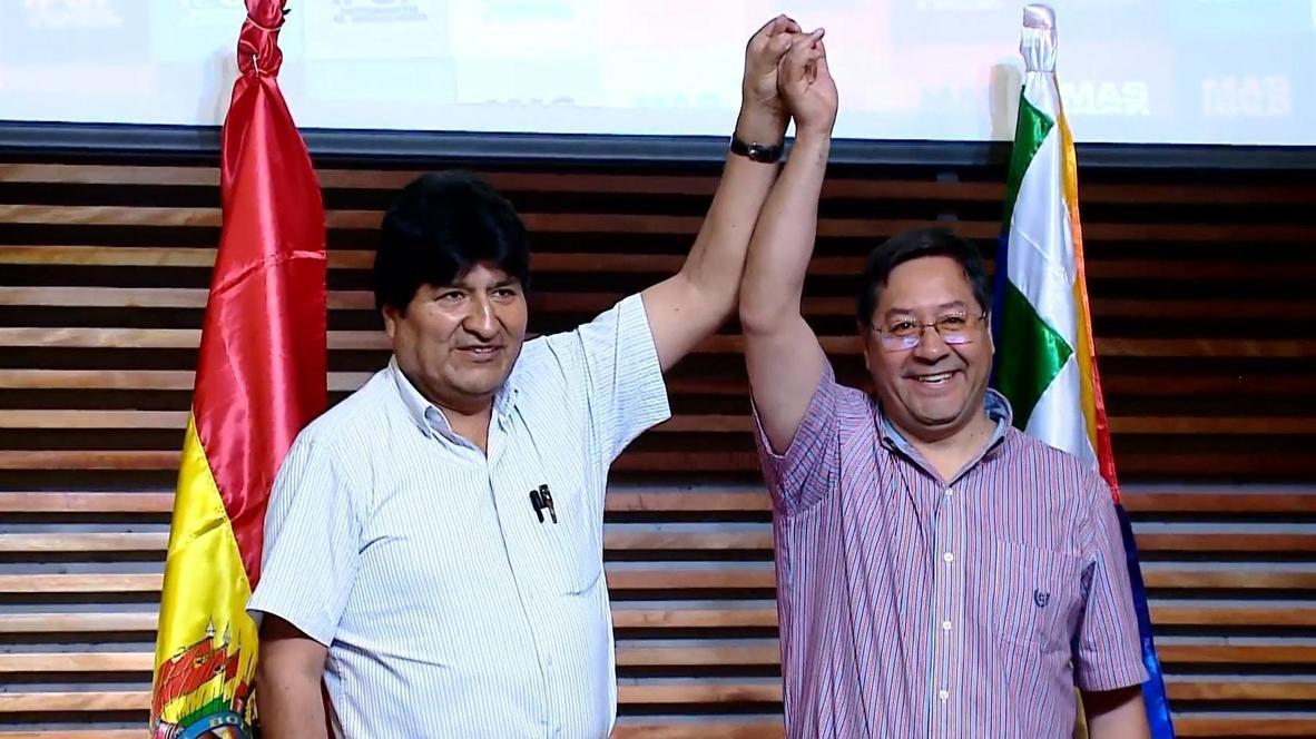 Argentina: Evo Morales hosts successor on flying visit