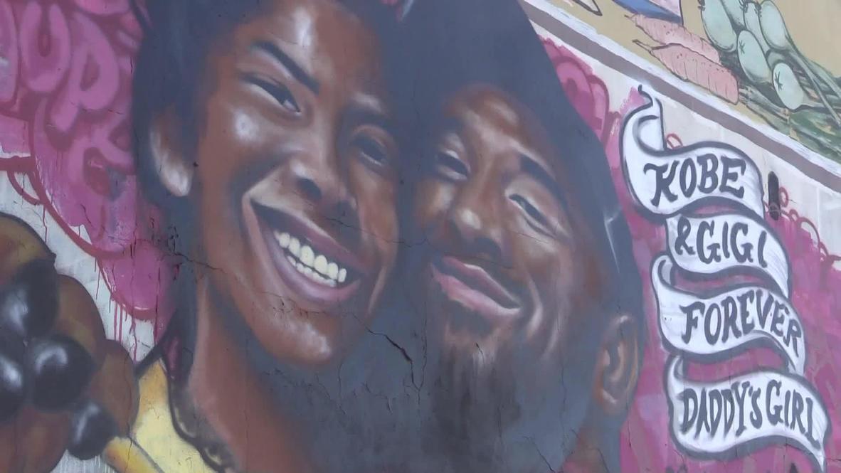 EE.UU.: Pintan un mural en honor a Kobe Bryant y su hija en Los Ángeles