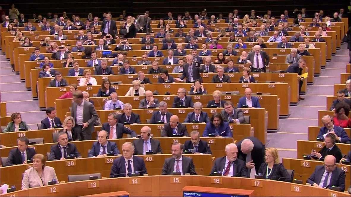 Belgium: MEPs sing Auld Lang Syne after Brexit vote