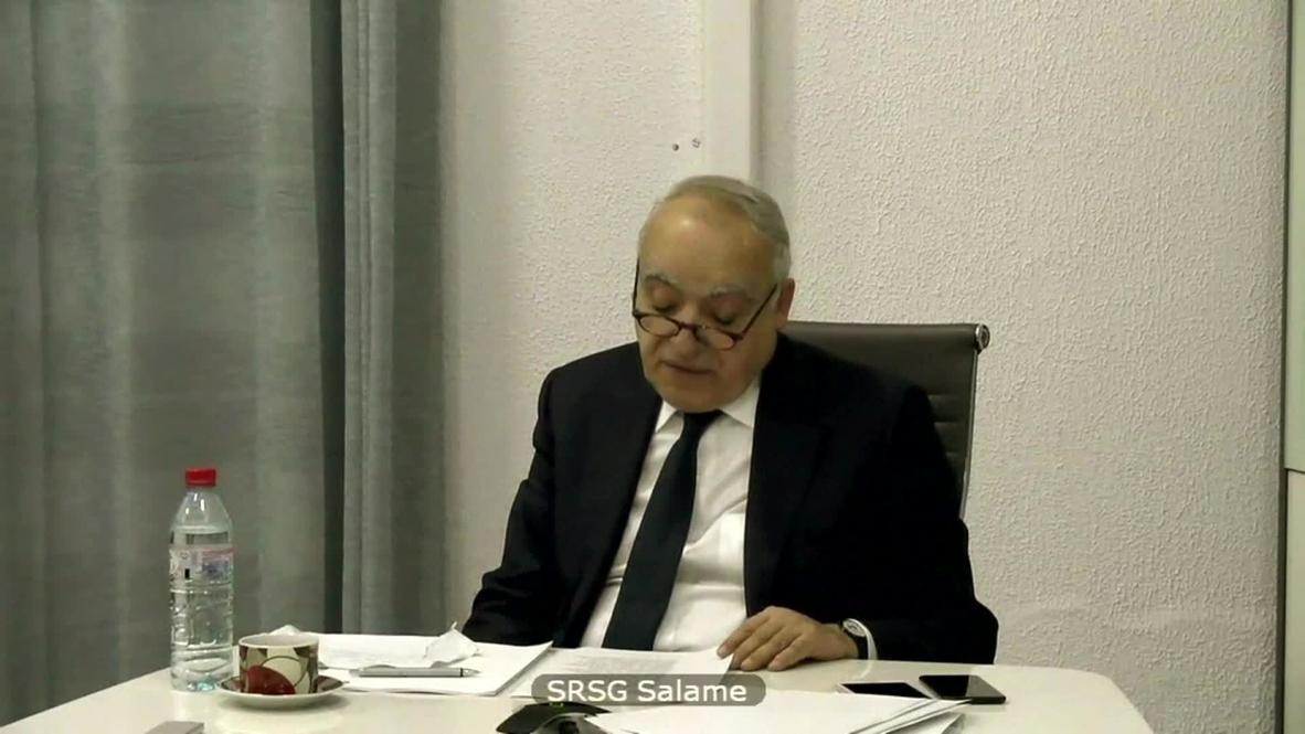 """الأمم المتحدة: غسان سلامة يؤكد أن الهدنة في ليبيا """"قائمة بالاسم فقط"""""""