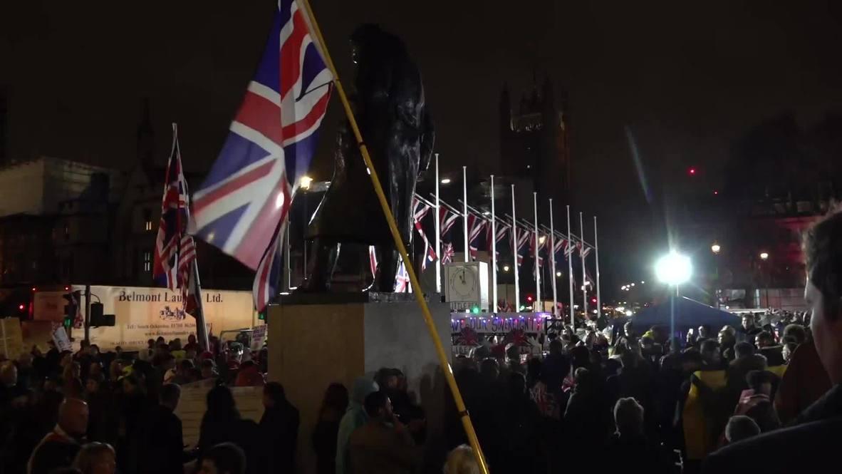 """المملكة المتحدة: مناصرو """"بريكست"""" يحتفلون بخروج بريطانيا من الاتحاد الأوروبي وسط لندن"""