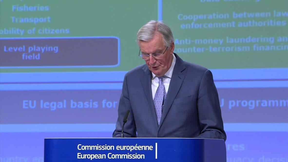 Belgium: EU to offer 'highly ambitious' trade deal - chief Brexit negotiator Barnier