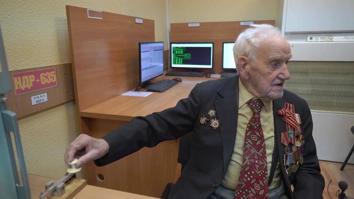 Руки-то помнят! Бывший фронтовик-радист сел за телеграфный ключ спустя 75 лет