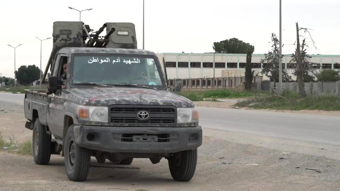 ليبيا: قوات الوفاق تنتشر في بلدة بضواحي طرابلس بعد هجوم صاروخي شنه الجيش الوطني