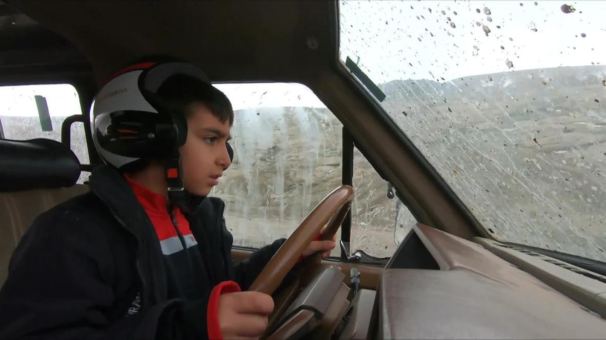 Un conductor de todoterreno de 9 AÑOS muestra sus increíbles habilidades