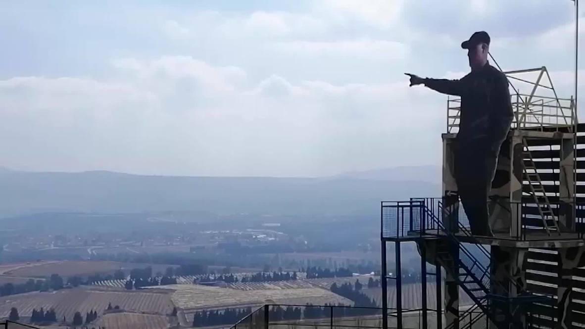 لبنان: وضع نصب تذكاري لسليماني قرب الحدود مع إسرائيل