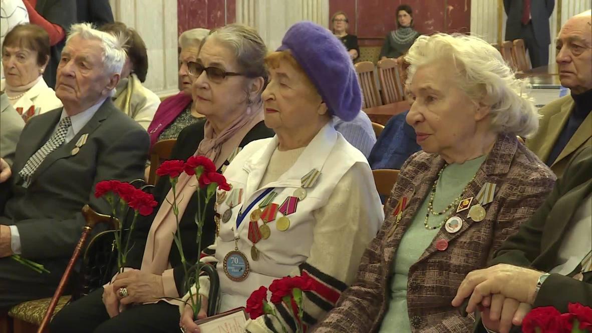 Германия: Юбилейные медали в честь 75-летия Победы вручили ветеранам ВОВ в Берлине