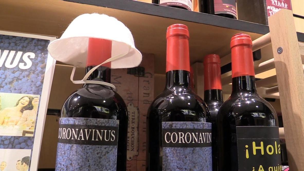 Spain: Madrid shop sells bottles of 'coronavirus' wine