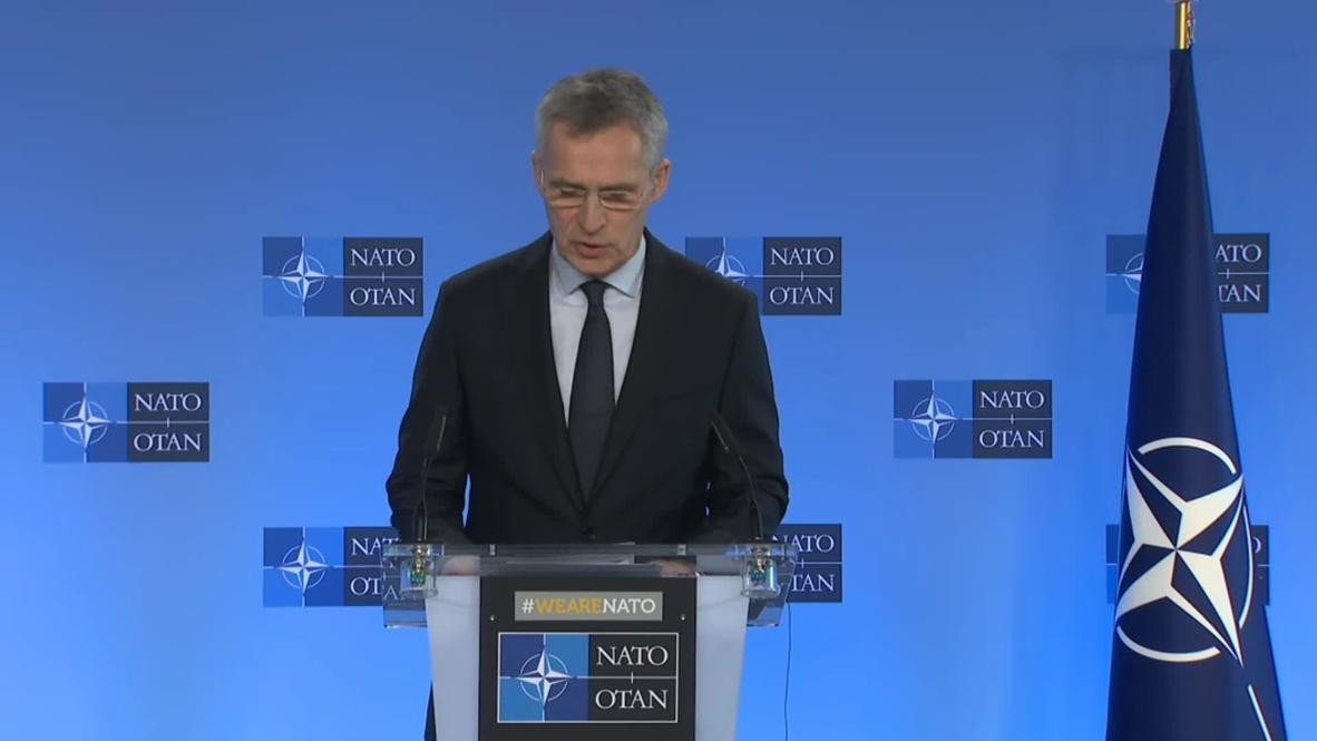 """بلجيكا: الأمين العام لحلف الناتو يعرب عن """"تضامنه الكامل مع تركيا"""" عقب مقتل جنودها في إدلب"""