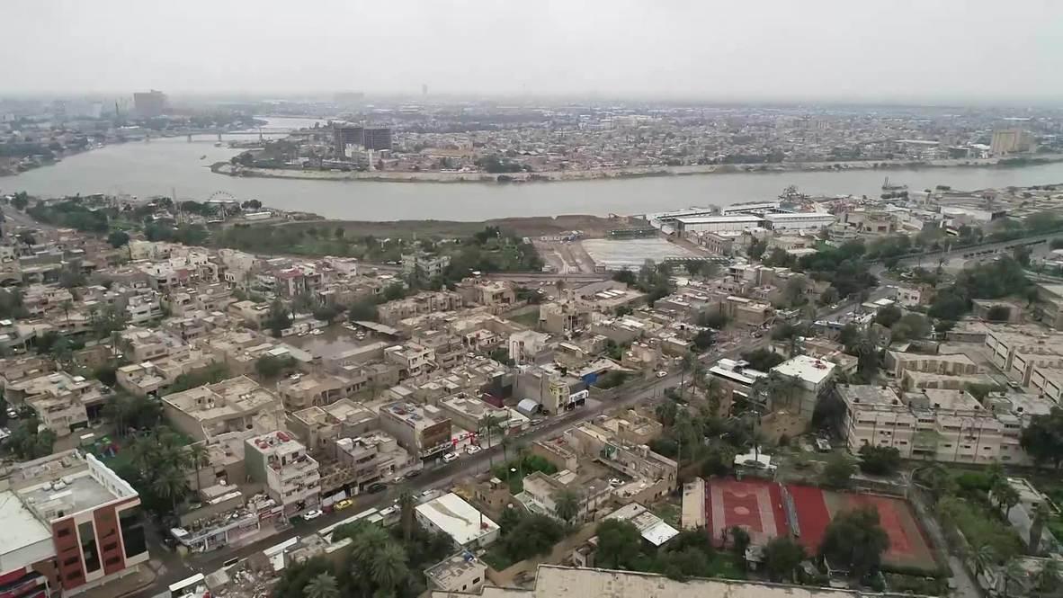 Iraq: Baghdad eerily quiet in aerial footage amid coronavirus lockdown