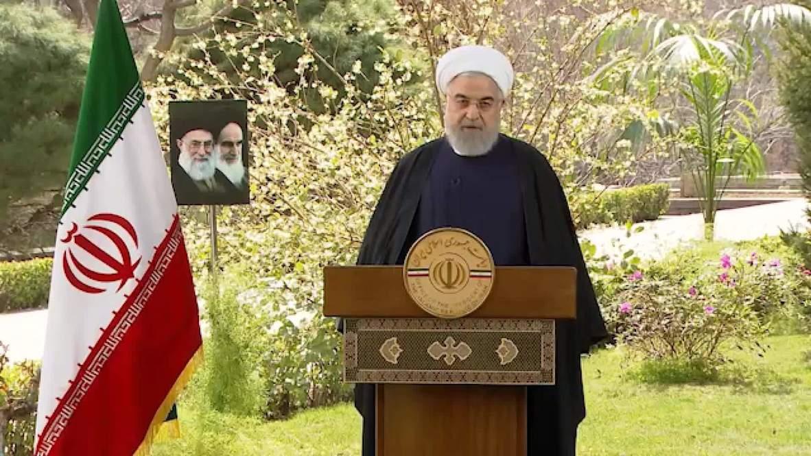 """Hasil gambar untuk Rouhani says Iran will """"overcome"""" coronavirus in Nowruz address"""