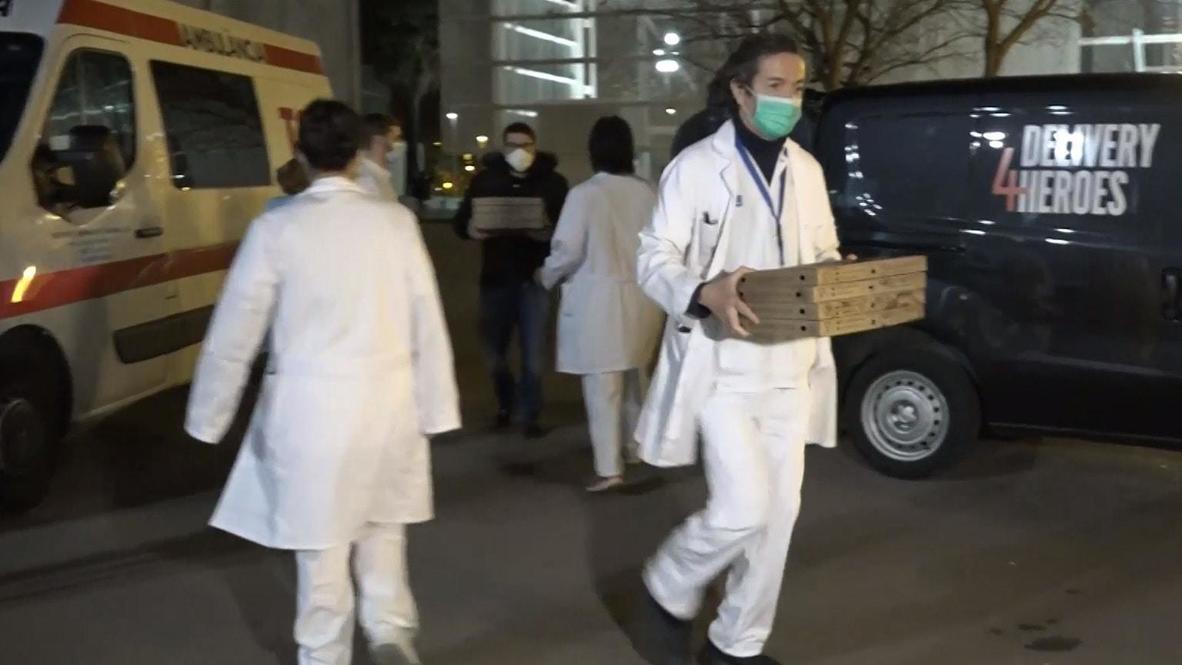 Spain: Barcelona food companies team up to feed 'hero' health workers amid coronavirus outbreak