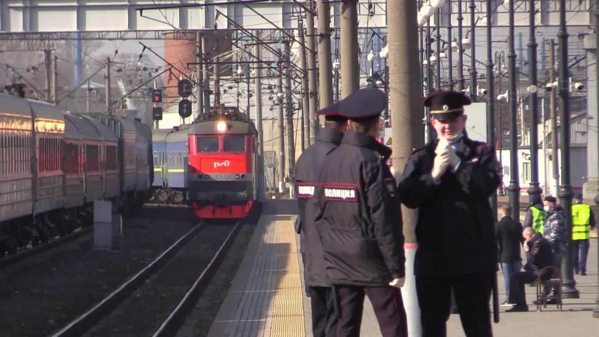 Россия: Спецпоезд с эвакуированными из Украины россиянами прибыл в Москву