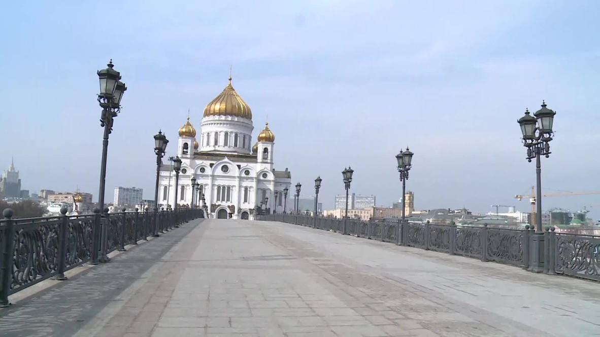 Москва дома. Центральные улицы столицы становятся безлюдными