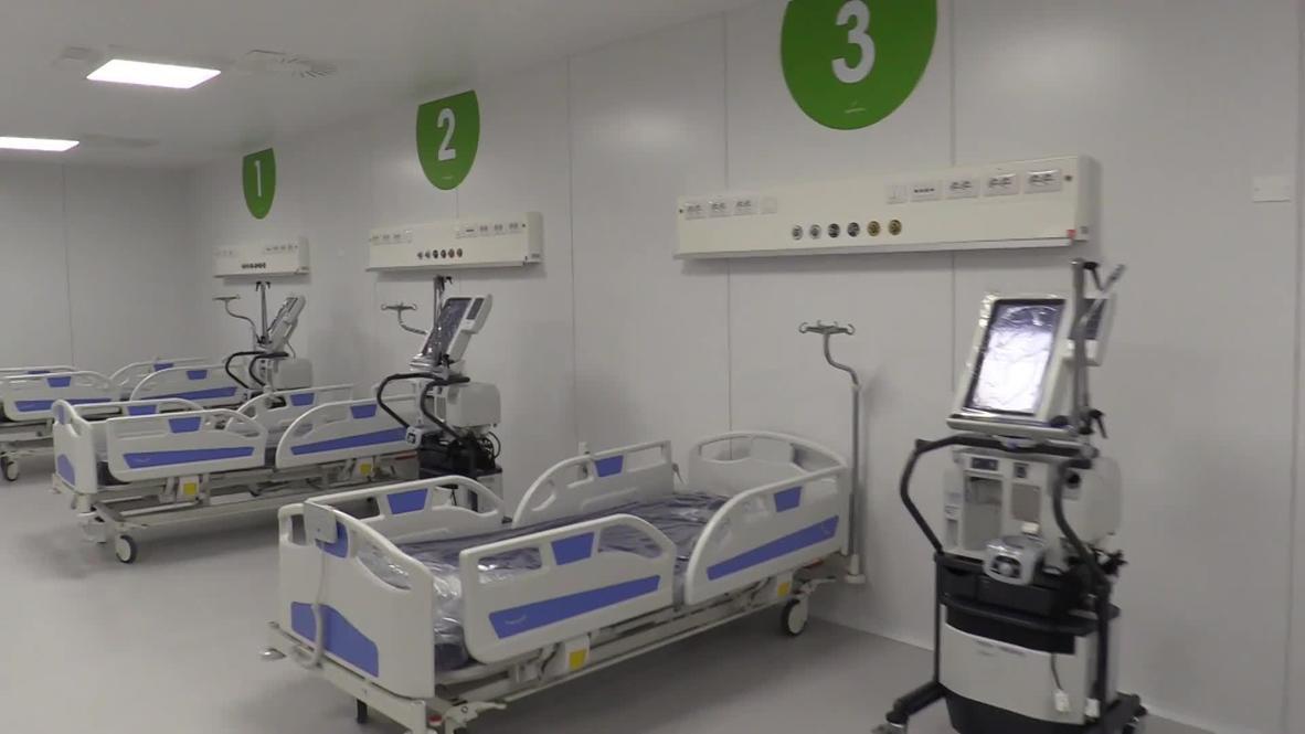 Italy: New coronavirus hospital inaugurated at Milan's Fair