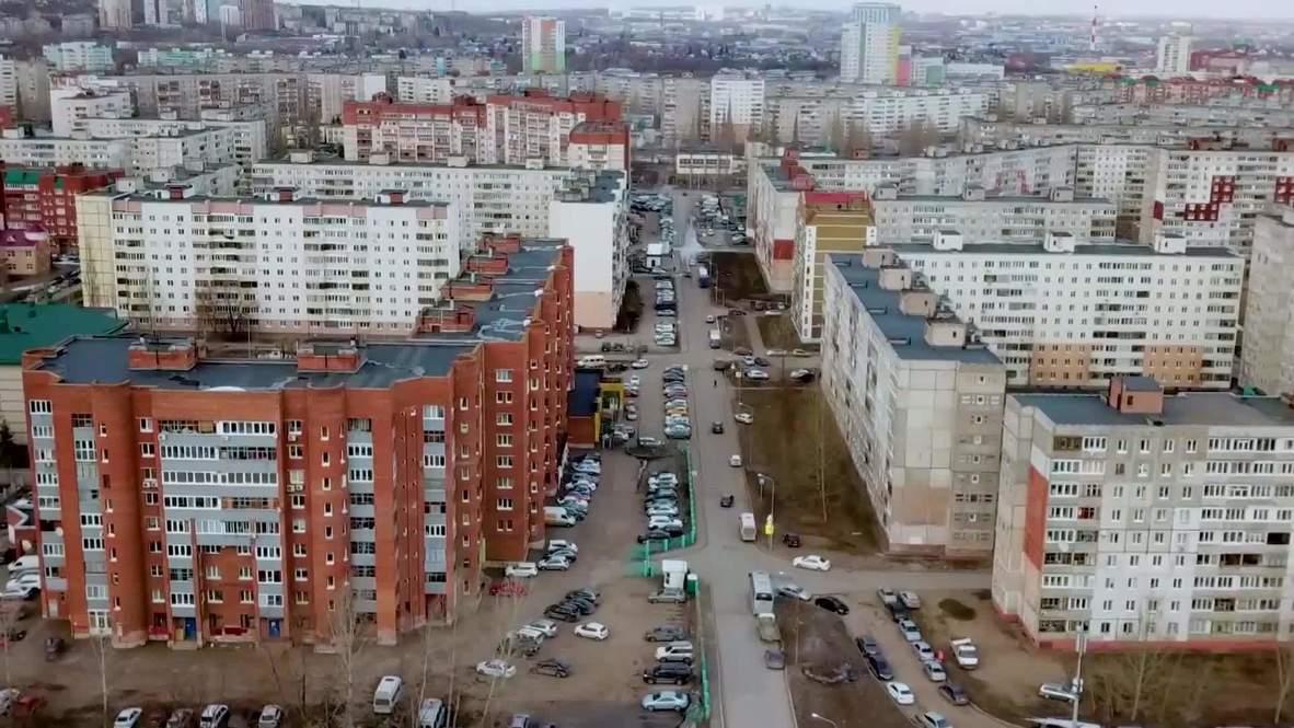 Россия: Улицы Уфы опустели из-за режима полной самоизоляции