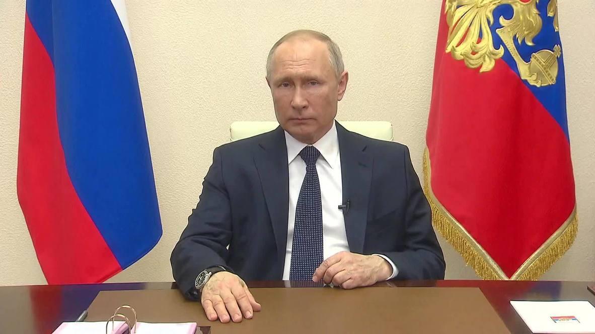 Россия: Владимир Путин обратился к нации в связи с ситуацией вокруг коронавируса