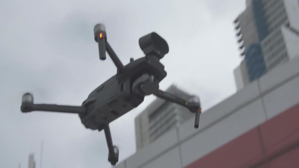 Colombia: Drones con altavoces piden a la gente que se quede en casa durante el brote de COVID-19