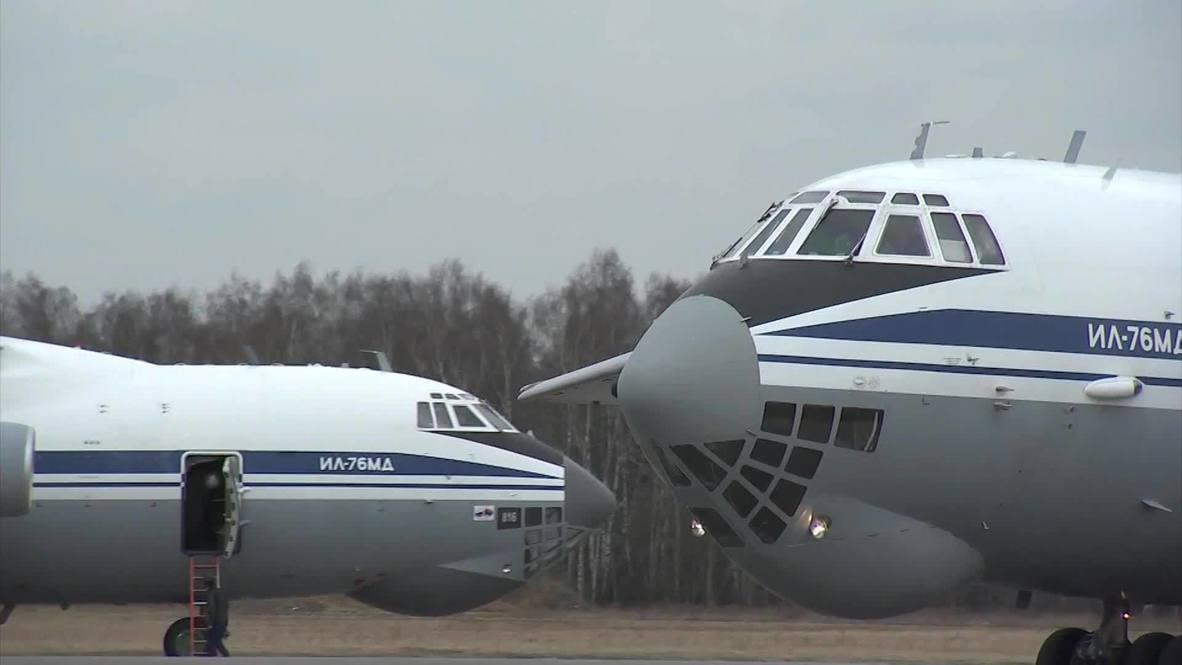 Россия: Военные самолеты вылетели в Сербию для борьбы с коронавирусом