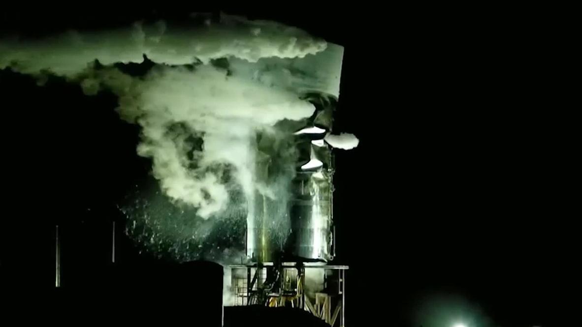 """الولايات المتحدة الأمريكية: انفجار صاروخ """"سبيس إكس"""" الثالث أثناء اختباره في تكساس"""