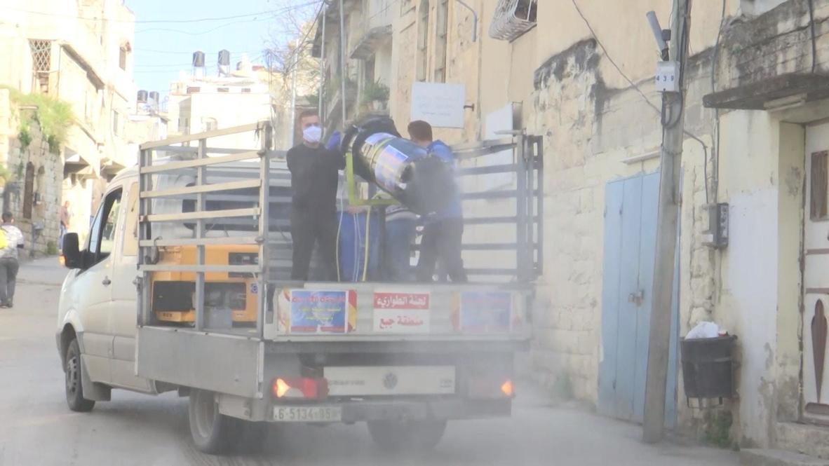 دولة فلسطين: مهندسان شقيقان يخترعان جهاز تعقيم للأماكن العامة للحد من تفشي فيروس كورونا