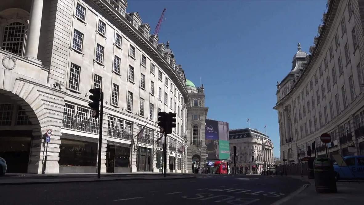 UK: London's tourist hotspots deserted as Londoners exercise in spring sun despite lockdown