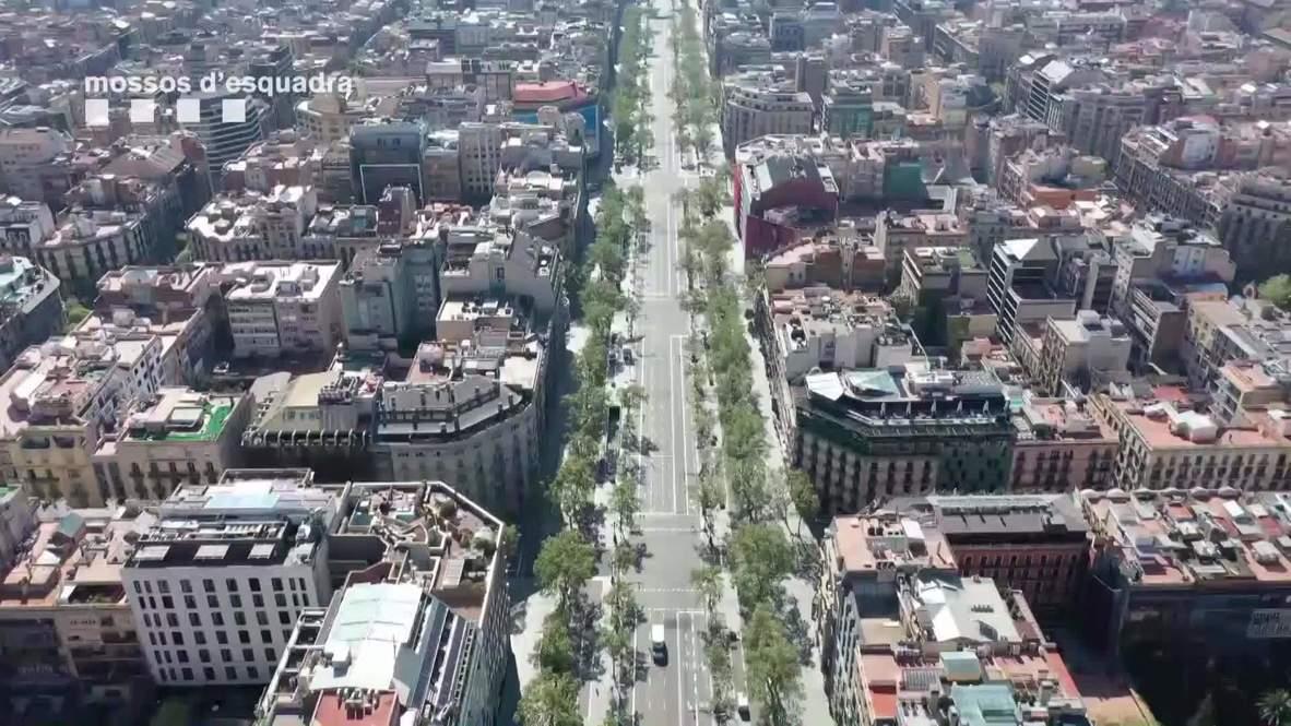 Spain: Barcelona streets remain empty during coronavirus outbreak