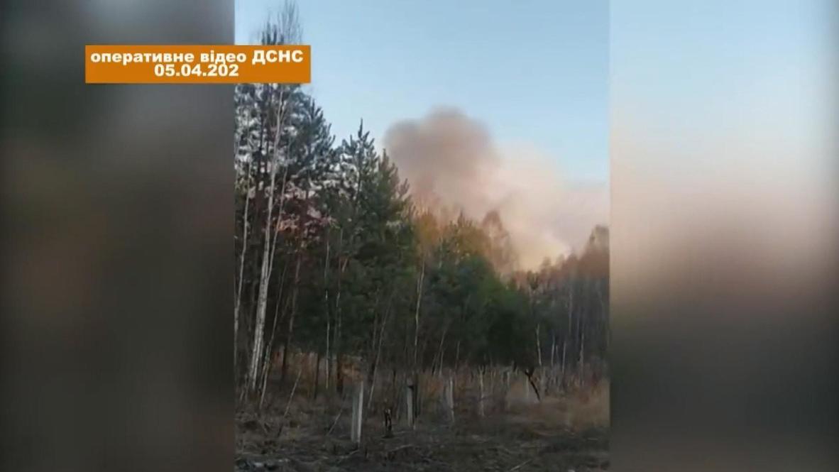 أوكرانيا: حرائق غابات بالقرب من تشيرنوبيل تزيد من مستويات الإشعاع النووي