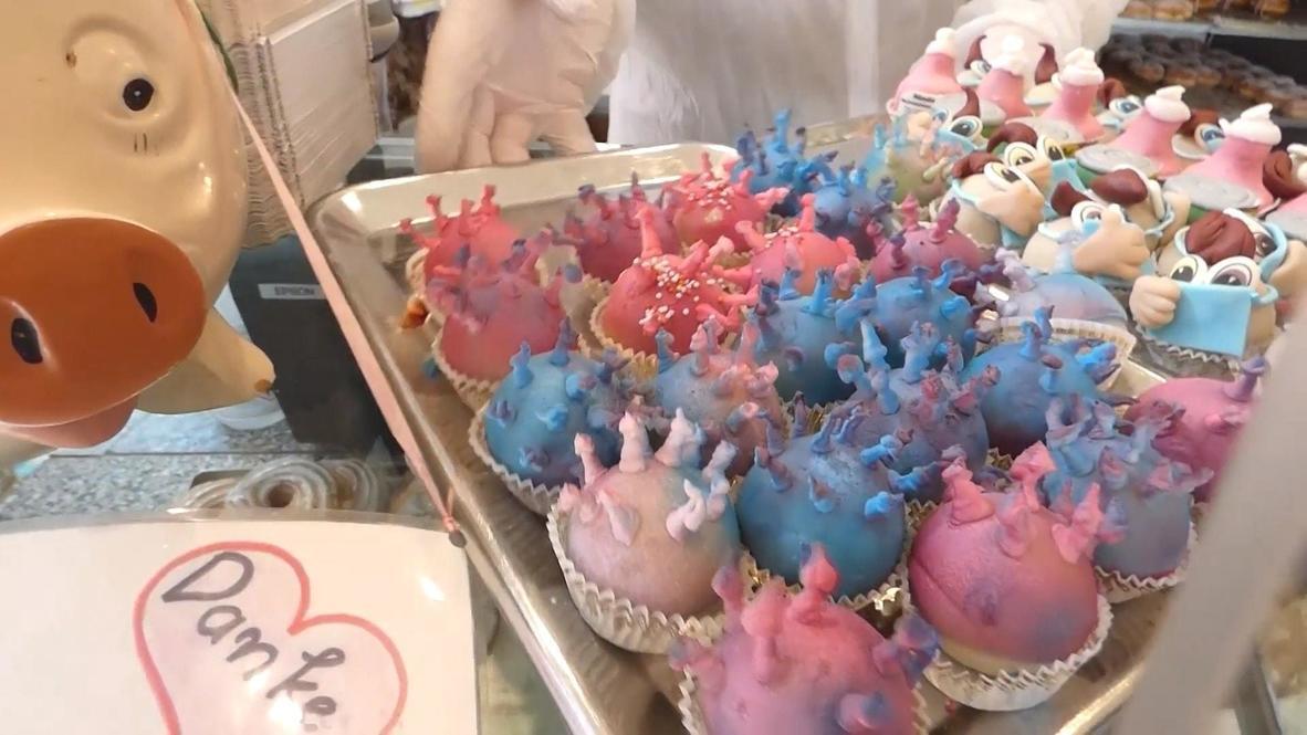 ألمانيا: مخبز في مدينة إرفورت يصنع كعكاً صغيراً على شكل فيروس كورونا