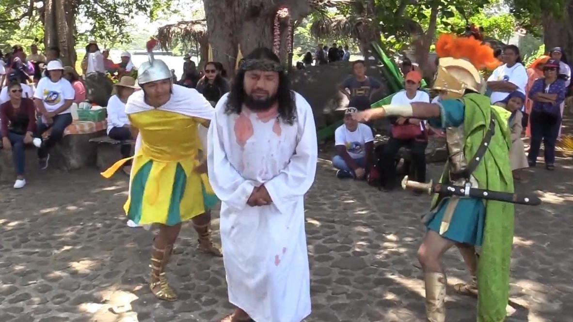 Nicaragua: Gobierno organiza representación del viacrucis en medio de la pandemia de coronavirus