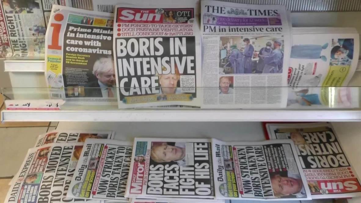 المملكة المتحدة: بريطانيون يعبرون عن آرائهم حيال دخول بوريس جونسون العناية المركزة