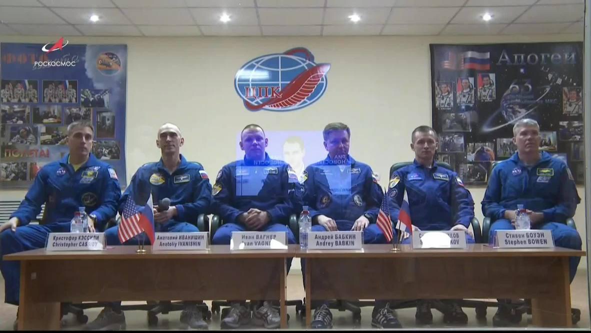 Казахстан: Члены экипажа МКС-63 перед полетом больше месяца провели на карантине