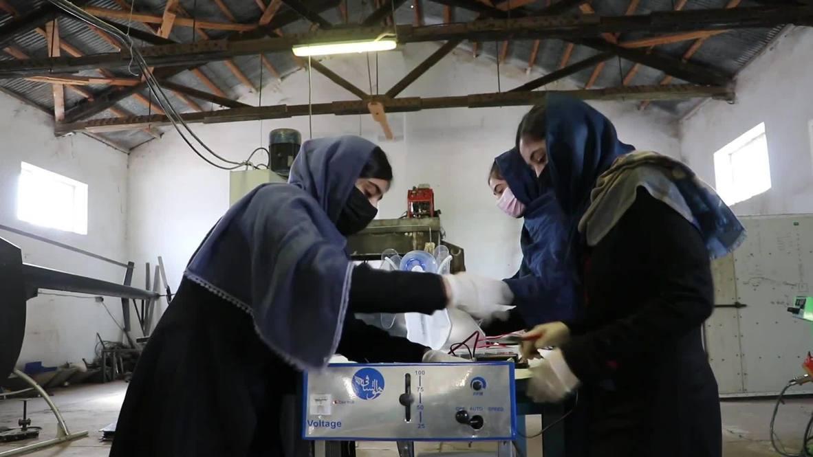 Afghanistan: Girls Robotics Team builds ventilator-like device from car parts